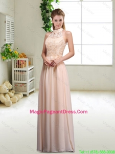 Elegant Laced and Bowknot Pageant Dresses with Halter Top