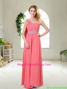 Pretty One Shoulder Sequined Pageant Dresses in Watermelon Red