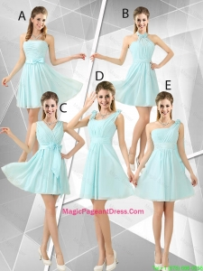 Beautiful A Line Ruched Pageant Dresses in Light Blue
