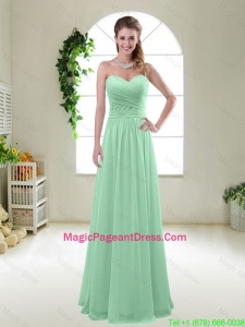Comfortable Sweetheart Apple Green Pageant Dresses with Ruching