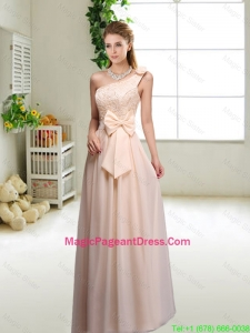 Discount One Shoulder Pageant Dresses in Champagne
