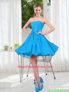 2016 Summer A Line Sweetheart Pageant Dress in Baby Blue