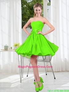 2016 Summer A Line Sweetheart Pageant Dresses in Spring Green