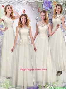 Feminine Champagne Laced Pageant Dresses with Appliques