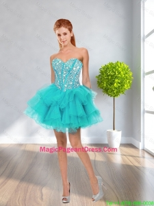 Latest Ball Gown Sweetheart Beaded Pageant Dresses in Multi Color