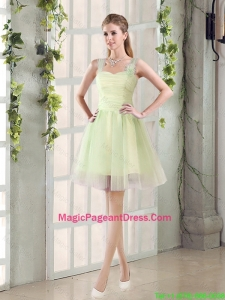 2016 Fall Lovely A Line Straps Ruching Pageant Dresses with Bowknot