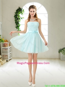 Elegant Strapless Mini Length Pageant Dresses with Bowknot