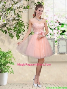 Elegant Sweetheart Baby Pink Pageant Dresses with Appliques and Belt
