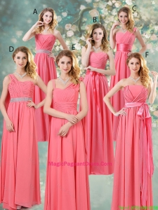 Fashionable Ruched Pageant Dresses in Watermelon Red