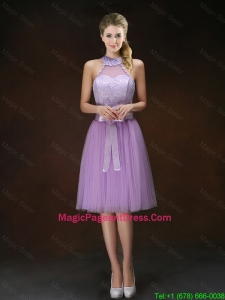 Popular Knee Length Pageant Dresses with Halter Top
