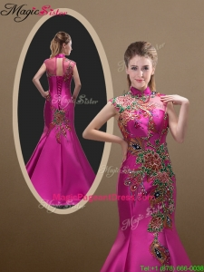 2016 New Style Mermaid Brush Train Pageant Dresses with Appliques and Beading
