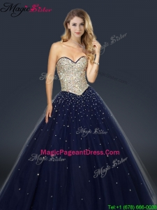 2016 Perfect A Line Sweetheart Pageant Dresses with Beading and Paillette