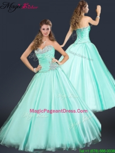 2016 Perfect Sweetheart Beading Pageant Dresses in Apple Green