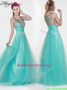 2016 Lovely Empire Scoop Beading Pageant Dresses