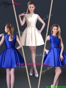 Beautiful Short Bateau 2016 Pageant Dresses with Bowknot and Beading