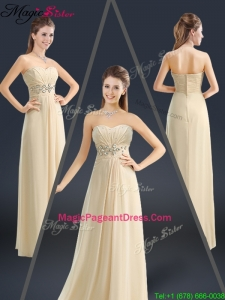 Latest Sweetheart Beading 2016 Pageant Dresses in Champagne