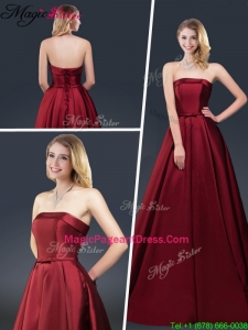 Winter Gorgeous A Line Strapless 2016 Pageant Dresses with Brush Train