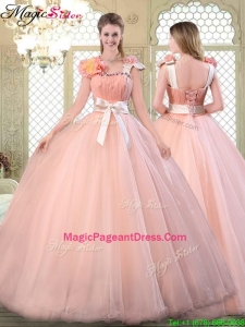 2016 Beautiful Asymmetrical Pageant Dresses with Bowknot