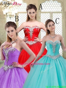 2016 Elegant Sweetheart Brush Train Pageant Dresses with Beadin