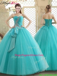 2016 Lovely Sweetheart Pageant Dresses with Beading and Paillette