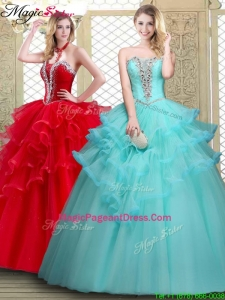 2016 Perfect Sweetheart Pageant Dresses with Beading and Ruffles