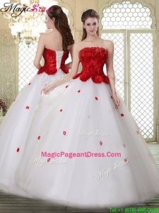 2016 Popular A Line Strapless Pageant Dresses with Ruffles