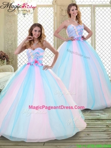 2016 Sweetheart Pageant Dresses with Hand Made Flowers