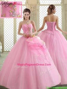 Exquisite Sweetheart Rose Pink Pageant Dresses with Beading