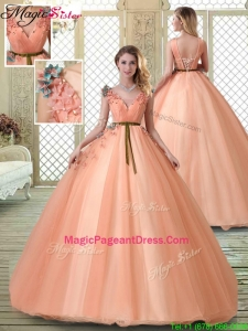 Exquisite V Neck Pageant Dresses with Appliques and Beading