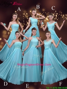2016 Cheap Empire Aqua Blue Pageant Dresses