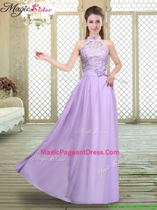 2016 Sweet High Neck Lace Lavender Pageant Dresses