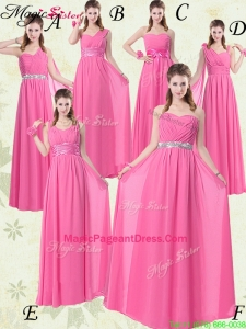 Fashionable Empire Ruching Pageant Dresses for Rose Pink