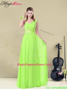 Gorgeous Floor Length Straps Ruching Pageant Dresses for Summer