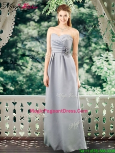 Romantic Empire Sweetheart Pageant Dresses with Hand Made Flowers