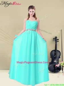 Amazing Empire Sweetheart Belt Bridesmaid Dresses in Apple Green