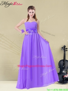 Amazing Sweetheart Floor Length Bridesmaid Dresses with Belt