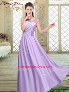 Best Scoop Lace Pageant Dresses in Lavender