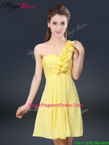 Best Short One Shoulder Ruching Pageant Dresses
