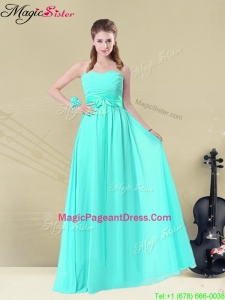 Classical Sweetheart Pageant Dresses with Belt