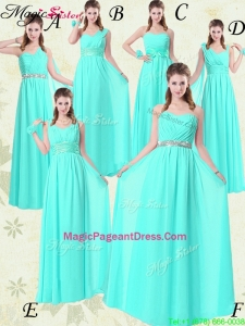 Exquisite Empire Pageant Dresses with Belt in Apple Green