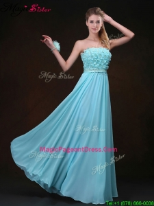 Exquisite Empire Strapless Pageant Dresses with Appliques