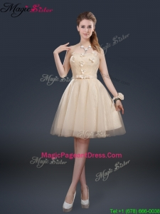 Exquisite Strapless Pageant Dresses with Appliques and Belt