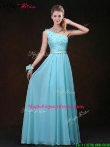 Perfect Empire One Shoulder Pageant Dresses with Appliques