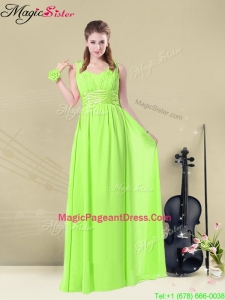Summer Classical Straps Empire Ruching Pageant Dresses