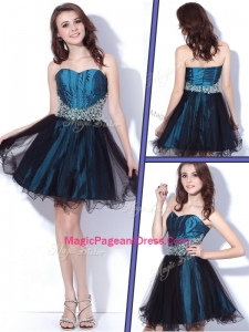 2016 Lovely Sweetheart Beading Short Pageant Dresses for Homecoming