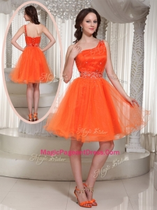 Latest One Shoulder Beading Short Amazing Pageant Dresses for Party