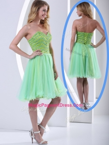 Lovely Sweetheart Beading Short Amazing Pageant Dresses for Party