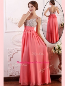 Most Popular Empire Straps Watermelon Amazing Pageant Dresses for Celebrity