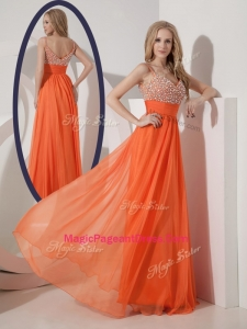 Classical Empire Spaghetti Straps Beading Exquisite Pageant Dresses