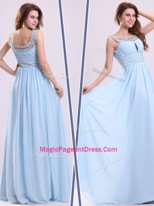 Elegant Empire Straps Sweetheart Classical Pageant Dresses with Beading